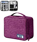 FLYNGO Electronics Accessories Organizer Bag Travel Padded Gadget Bag Cable Organisers Pouch Carrying