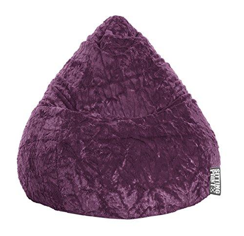 SITTING POINT only by MAGMA Sitzsack Fluffy XL ca. 220 Liter aubergine
