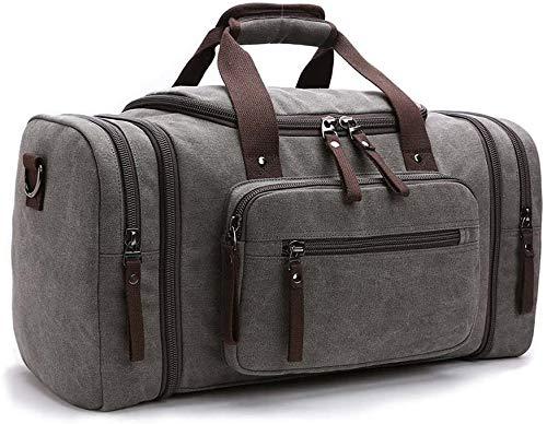 Bolsa de lona de viaje estilo vintage para el fin de semana, deporte, Duffel, gimnasio, camping, senderismo, mujer y hombre