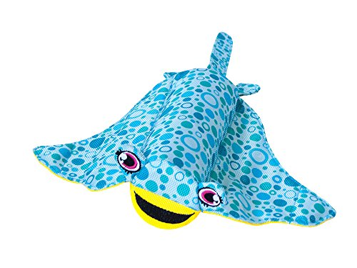 Outward Hound Floatiez Stingray Floating Dog Toy for Water Play - Beach and Pool Fetch Games