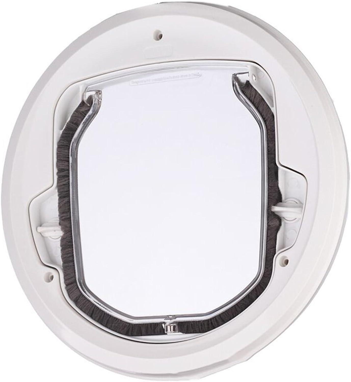 marca famosa Pet Door Puerta rojoonda Transparente para para para Ventana De Pantalla Puerta Corrojoera De Cristal Ventana De Cristal PM-5201  la calidad primero los consumidores primero