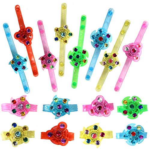 Effacera Party Favors for Kids 20 Pack, Fidget Toys, Light Up Bracelet, Glow in The Dark Halloween Party Supplies, Christmas Classroom Prizes Box
