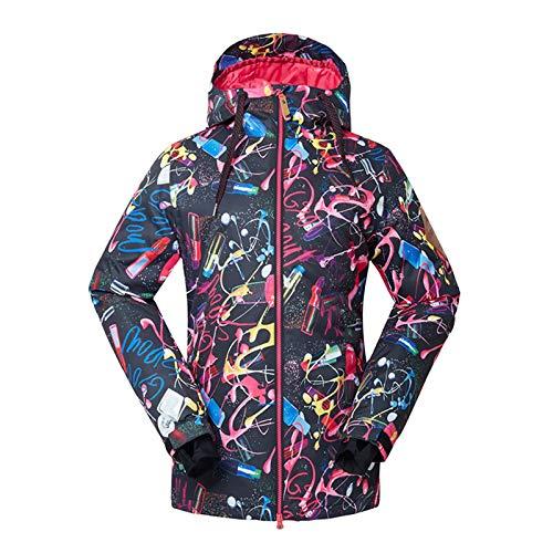 Ladies Ski Suit Damer skidkläder utomhus varma bomullskläder Praktisk Utomhus Bergsklättring (Color : Picture color, Size : Small)