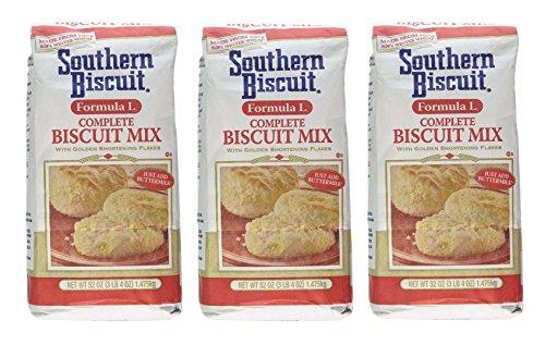 Southern Biscuit Formula L Complete W/golden Shortening Flakes Biscuit Mix, 3 - 52oz Pkgs