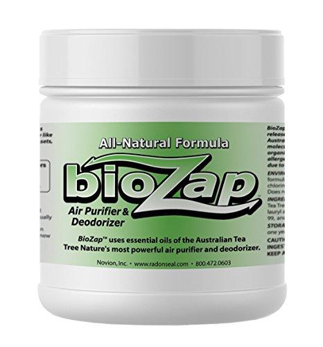 BioZap Air Purifier & Deodorizer (16-oz Jar) - Australian Tea Tree Oil Gel. Naturally Eliminates Odors in Basements, Crawlspaces, Gyms, Cars, Closets and More.