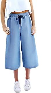 0bd7723c89 Amazon.it: pantaloni donna a palazzo - Jeans / Donna: Abbigliamento