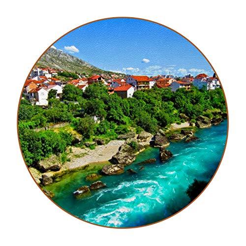 Bennigiry Bosnia Herzegovina Mostar - Posavasos redondos resistentes al calor, 6 unidades