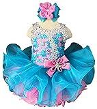Jenniferwu G037BP Infant Toddler Baby Newborn Little Girl's Pageant Party Birthday Dress Blue Pink Size 9-12M