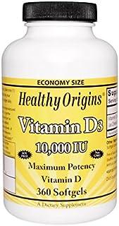 Healthy Origins 维生素 D3 10000IU 360 粒软胶囊
