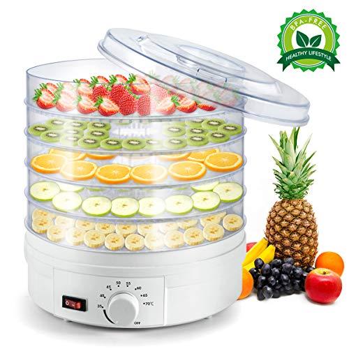 Sunix Deshidratador de Alimentos, Deshidratadora de Frutas Profesional de 5...