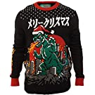 Ugly Christmas Sweater Company Surtido de suéteres con Cuello Redondo y Luces LED Intermitentes Multicolor Chamarra sin botón para Hombre