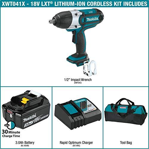Makita XWT041X 3.0Ah 18V LXT Lithium-Ion Cordless 1/2