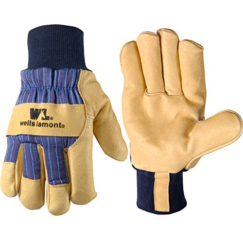 Men's Heavy Duty Leather Winter Work Gloves with Thinsulate Insulation, Small (Wells Lamont 5127)