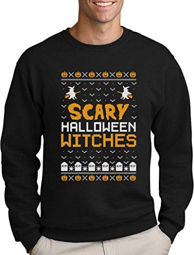 Scary Halloween Witches - Im Ugly X-Mas Style Sweatshirt X-Large Schwarz