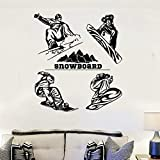 XCSJX Snowboard Wall Sticker Winter Extreme Sports Wall