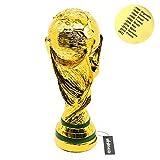 【BONTREC】 最新版! サッカー W杯 FIFA ワールドカップ 優勝カップ トロフィー レプリカ 原寸大 優勝景品 高さ36cm 重量1.5kg 陶器メタル製