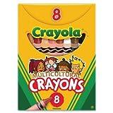 Crayola Lápices multiculturales, tamaño del crayón: 9,2 x 0,8 cm. Color de cera: negro, sepia, melocotón, albaricoque,