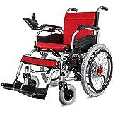 BOC Silla de ruedas, silla de ruedas eléctrica, plegable moderna Durable al aire libre Empujar a mano/eléctrico Ancianos discapacitados Cómoda silla de ruedas eléctrica de cuatro ruedas (batería de