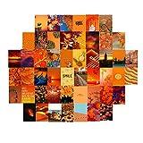 YSISLY 50PCS Kit de Photo Aesthetic pour Chambre Collage Mural Esthétique 10x15cm Couleur Fraîche/Chaude Décor de Chambre Collection de Photo Art Mural pour Chambre, Affichage de Photo de Dortoir (E)