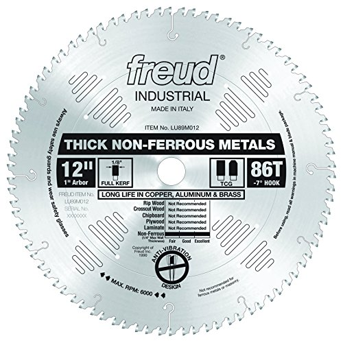 Freud 12' x 86T Thick Non-Ferrous Metal Blade (LU89M012)