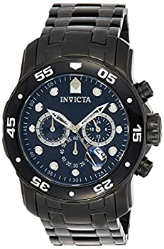 Invicta Men s Pro Diver Scuba 48mm Black Stainless Steel Chronograph Quartz Watch Black  Model  0076