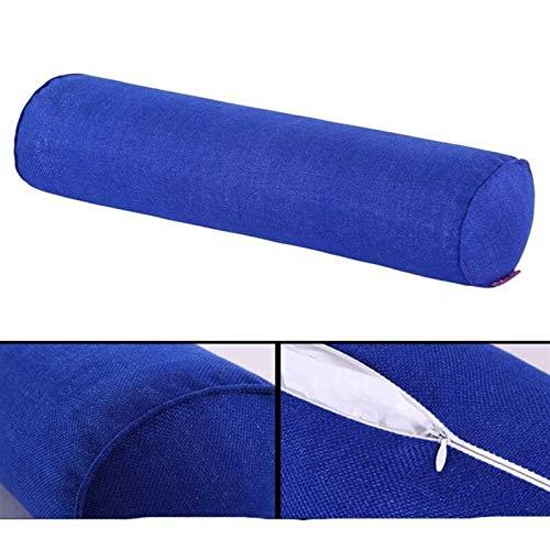 Almohada de cuello para el hogar, dormitorio, embarazo, almohada larga, soporte de cuerpo redondo, cojín de espuma viscoelástica (color: azul oscuro, tamaño: 20 x 100 cm)