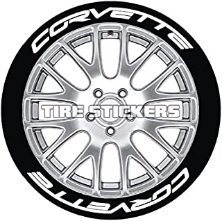 C7 Corvette Tire Stickers with FleXement Industrial Adhesive- Permanent 1