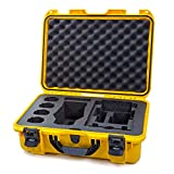 Nanuk 925 Waterproof Hard Case with Foam Insert for DJI Mavic 2 Pro|Zoom + Smart Controller, Crystalsky 5.5' or iPad - Yellow