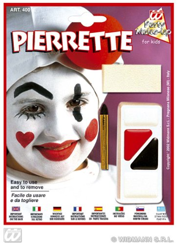 Kit De Maquillage - Clown Triste Pierrette - Taille Unique