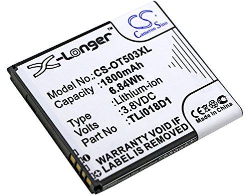 CS-OT503XL Batería 1800mAh Compatible con [ALCATEL] One Touch Pop 3 (5), One Touch Pop 3 (5) 4G, One Touch Pop 3 5.0, One Touch Pop 3 5', One Touch Pop D5, OT-5038, OT-5038A, OT-5038D, OT-5038E, OT-5