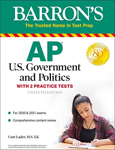 AP US Government and Politics: With 2 Practice Tests (Barron's Test Prep)