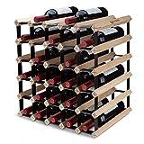 BOGENA® Weinregal aus Holz - im einzigartigen Design - in 3 Varianten erhältlich - stabil, langlebig & modern - Elegantes Flaschenregal für Ihre heimische Weinsammlung (30 Flaschen)