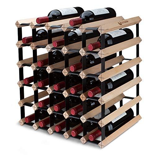 BOGENA Weinregal aus Holz - im einzigartigen Design - in 3 Varianten erhältlich - stabil, langlebig & modern - Elegantes Flaschenregal für Ihre heimische Weinsammlung (30 Flaschen)