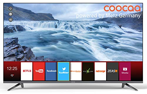 Coocaa 40S2012G 40 Zoll Smart LED Fernseher (101 cm), Rahmenloses Design, Triple Tuner, Netflix, YouTube (HDMI, CI-Slot, USB, digital Audio)