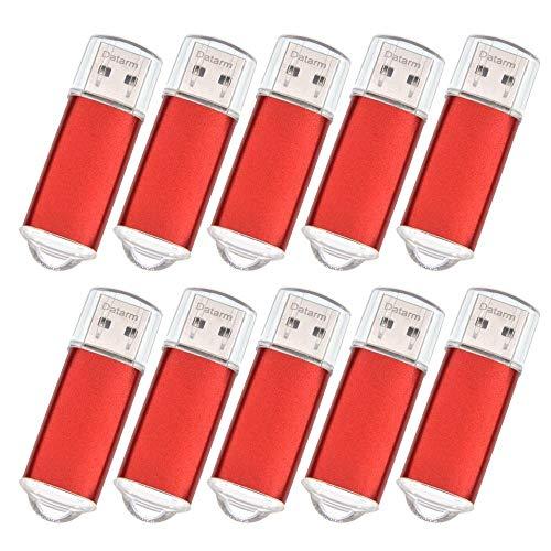 Pendrive 64MB 100 Piezas Portátil Memorias Flash USB 2.0 - Mini Metal USB Flash Drive Almacenamiento de Datos - Rojo 50 Unidades Pequeña Capacidad Personalizado Pen Drive Llaves USB para Promoción