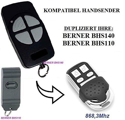 Kompatibel mit BHS110, BHS140 868,3MHz Handsender, Ersatz, Klone,TOP Qualität clone remote, ( NOT MADE BY BERNER )