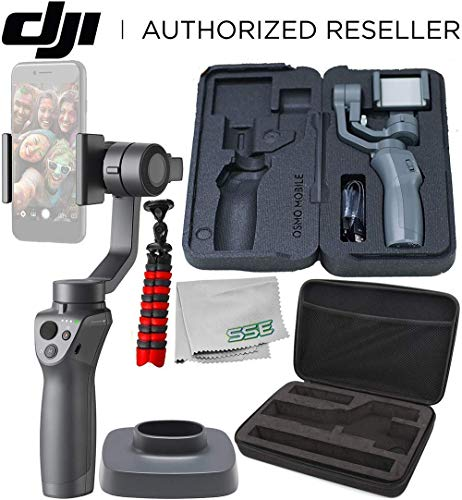 DJI Osmo Mobile 2 Handheld Smartphone Gimbal Stabilizer Must-Have Bundle (Renewed)