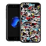 NGNHMFD Suave Bumper Black Cases Anti-rasguños Proteccion para iPhone 7 Plus/8 Plus(5.5') Cover Jordan 1 OG Sneaker Colorways