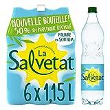 La Salvetat Eau Minérale Gazeuse Pack de 6 Bouteilles x 1,15 L