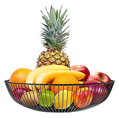 U-A Cesta De Frutas De La Sala De Estar, Plato De Frutas del Hogar, Lavabo De Frutas De Hierro Forjado, Cesta De Almacenamiento De Refrigerio Creativo De Escritorio Cesta De Fruta Redonda Cesta