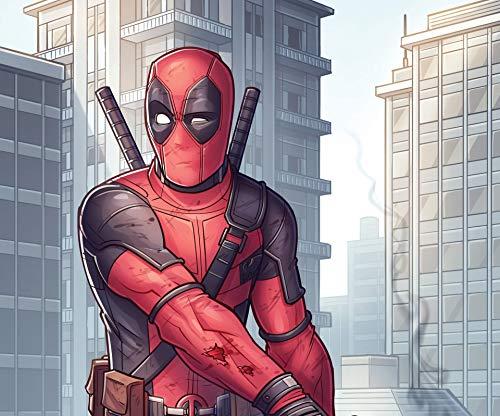 Deadpool Wallpaper Deadpool Mural Marvel Heroes Series Background Wall Avengers Spider-Man Iron Man Children's Room Wallpaper X