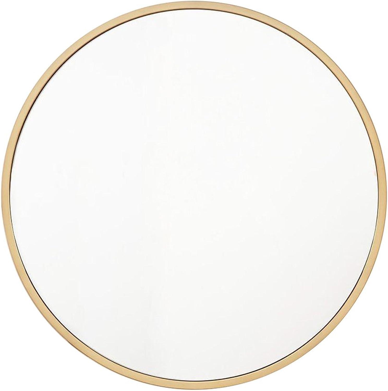 Wall Mirror, Bathroom Vanity Mirror Wall Mounted Mirror Bathroom Wall Mirror Dressing Makeup Hanging Mirror (color   gold, Size   30cm 11.8inch)