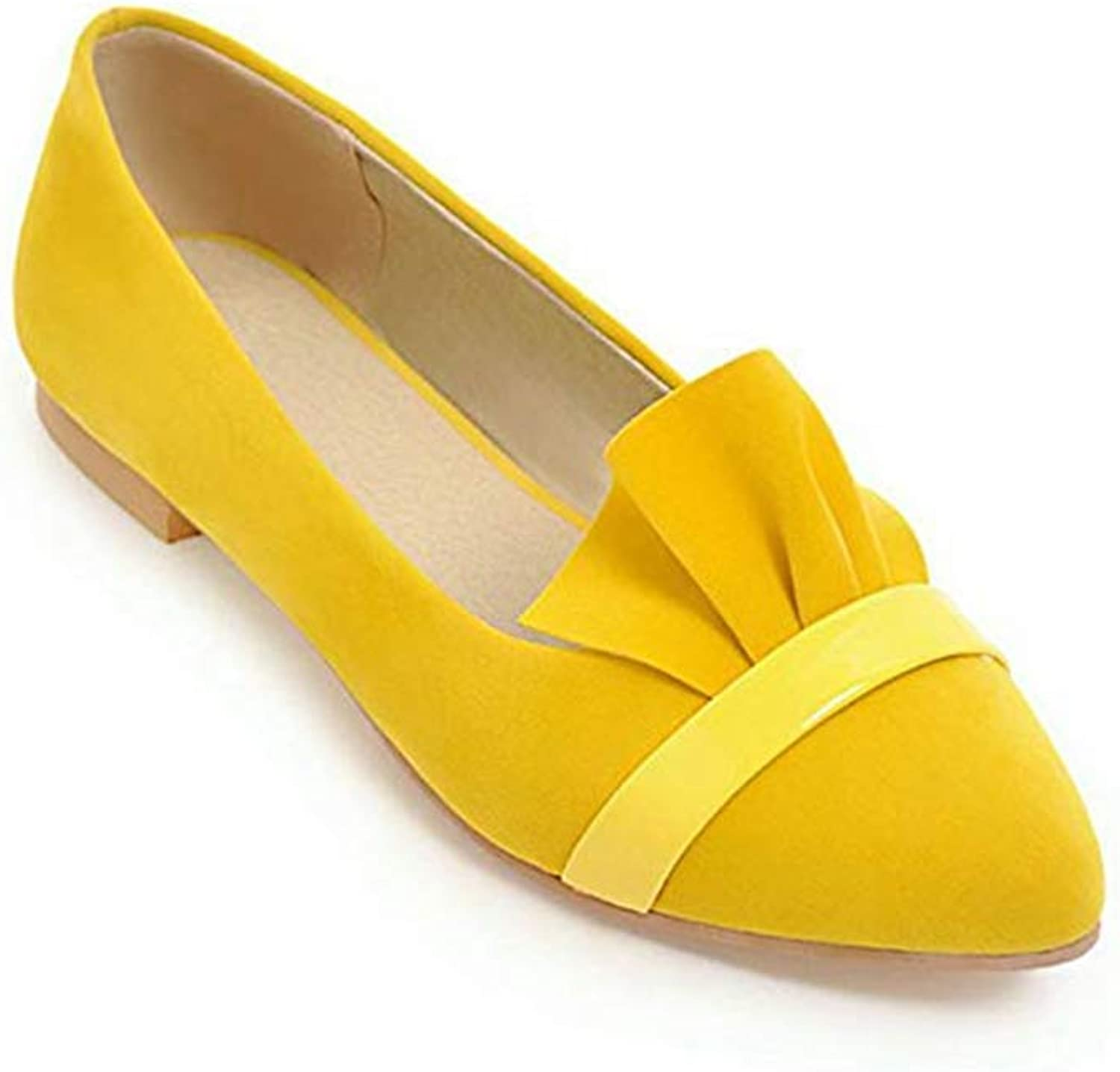 T-JULY Women's Flats Soft Suede Ballet Pointed Toe Loafers Slip-on Breathable Casual Pregnant Driving Ladies shoes