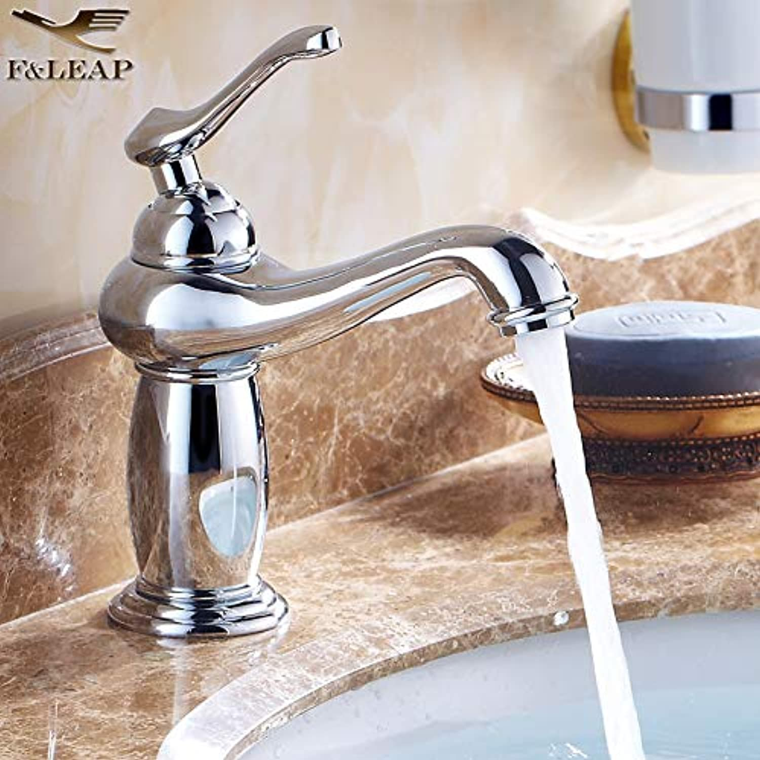 Hlluya Professional Sink Mixer Tap Kitchen Faucet Hot and cold water taps gold pink gold bluee-tiled table top antique basin faucet, of God Light Fittings