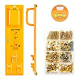 Picture Hanging Kit, Picture Frame Hanger Tool, 220 Pieces Heavy Duty Photo Hanger Accessories with Picture...