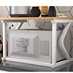 EXTR-ANT-Microwave-Oven-Rack-Double-Storage-Shelf-Kitchen-Oven-Storage-Floor-Stand-White-Frame-57-X-38-X-38cm-Kitchen-storage
