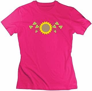 Small Sunflower Print Regular : Womenshort-sleeve Gray- Made In Good Quality.