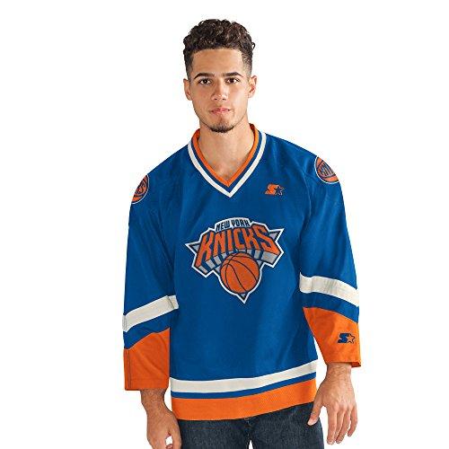 STARTER Men's NBA Legend Hockey Jersey New York Knicks, Royal, 5X