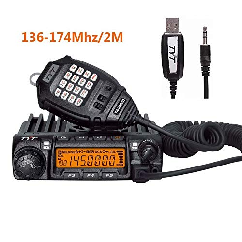 TYT TH-9000D Car Mobile Transceiver 60W VHF 136-174MHz Ham Radio Two Way Radio with USB Programming Cable,Black