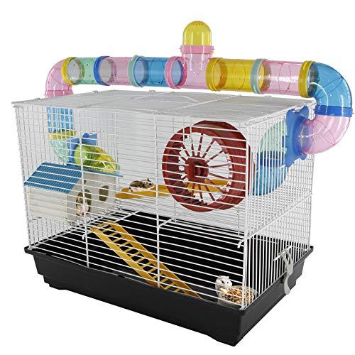 PawHut - Jaula para Hamster, Casa para Ratoncillos Roedores, Animal Pequeño con...